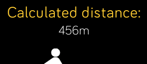 Calculated distance: my first application on the fitbit gallery! #proud